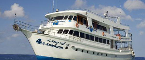 Liveaboard Somboon 4 at Similan island Thailand