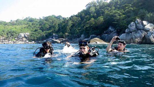 baptême de plongée Phuket Thailand