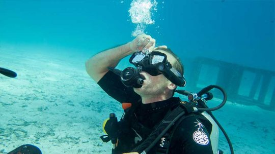 vidage de masque cours open water Phuket